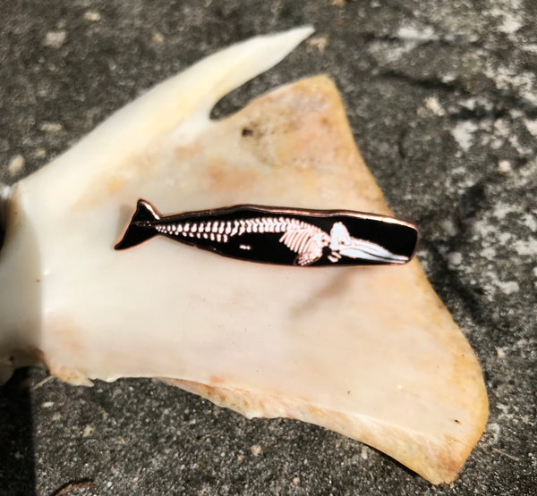 CHARITY SECONDS • Sperm Whale SkelePin