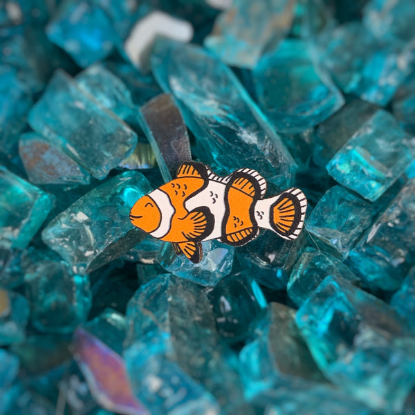 Clownfish Eco-friendly Wood Pin
