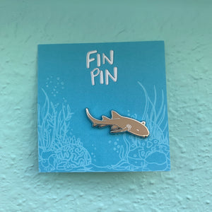 Nurse shark enamel pin x SHARKS4KIDS