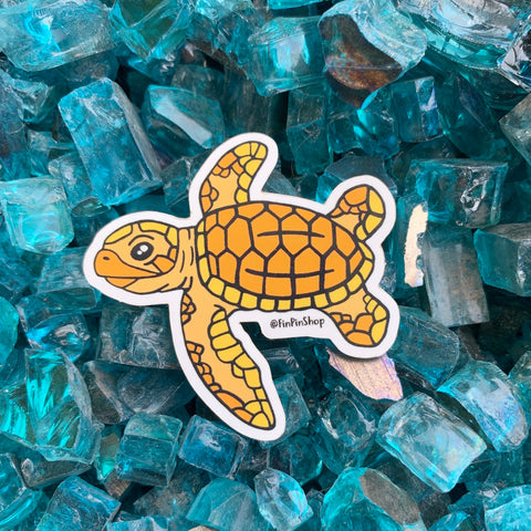 Hawksbill sea turtle sticker - Donation item