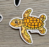 Hawksbill sea turtle sticker
