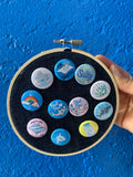 Ocean Pin Badges (choose from 10 badges!)