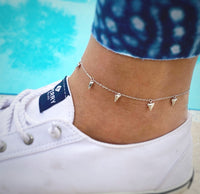 Shark tooth anklet • 925 silver