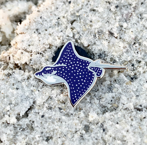 Mini Spotted Eagle Ray Pin