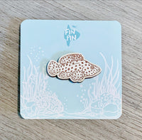 Panther Grouper Eco-friendly Wood Pin