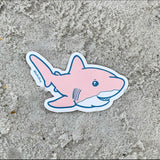 Pink chubby shark sticker