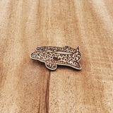 Milne Bay Leopard Epaulette Shark Eco-friendly Wood Pin
