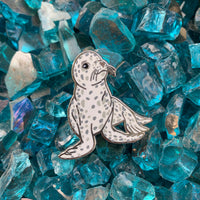 Harbor seal pup pin • donation item ASLC