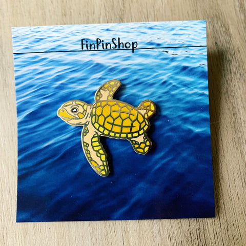 Hawksbill sea turtle hatchling pin - Donation item