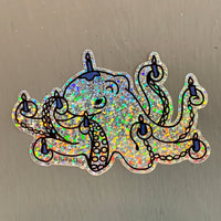 Holiday Octopus Sticker