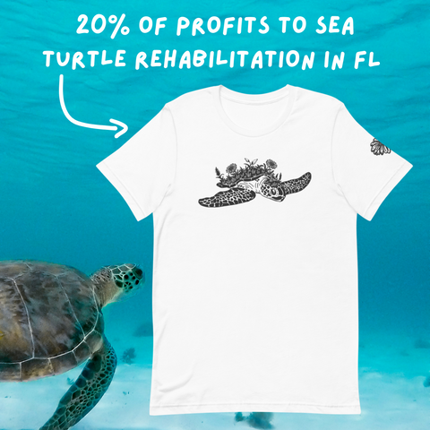 Greene Bean Sea Turtle Unisex Tee • Donation item