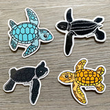 Leatherback sea turtle sticker