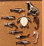 CHARITY SECONDS • Right Whale SkelePin