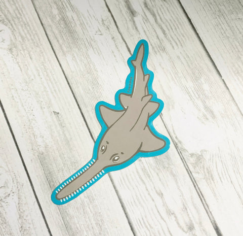 Small tooth Sawfish sticker • donation Saving the Blue