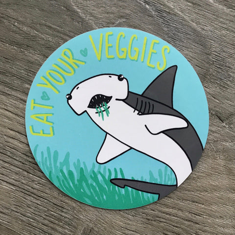 Eat Your Veggies - Bonnethead shark sticker