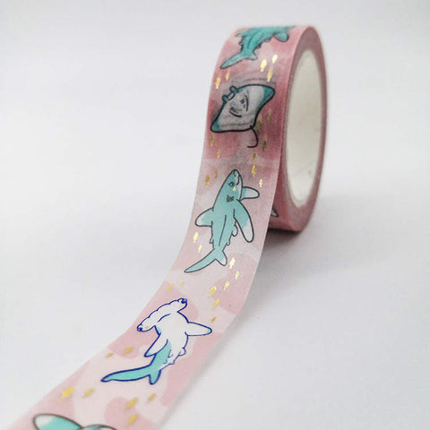 Sharks and Rays washi tape