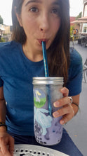 MEGA SHARK STRAWS - Smoothie/Bubble/boba tea Reusable Straw