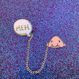Glitter Meh Blobfish Enamel Pin Set