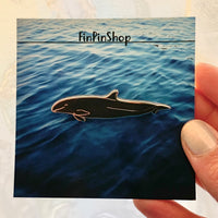 False Killer Whale Cetacean Pin