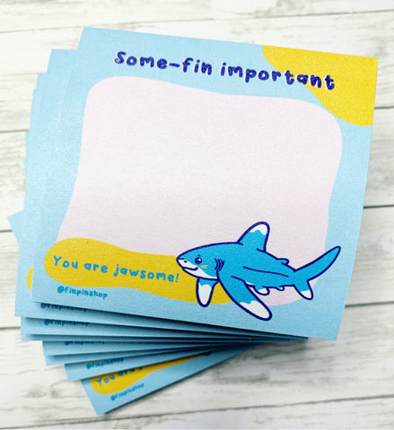 Some-fin important Oceanic White Tip Shark Sticky Notes