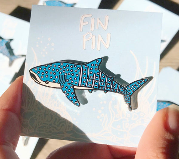 CHARITY SECONDS Whale shark enamel pin