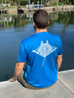 Men's - Pacific Blue Manta reef mandala tee