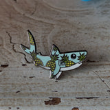 Pineapple Shark Hard Enamel Pin