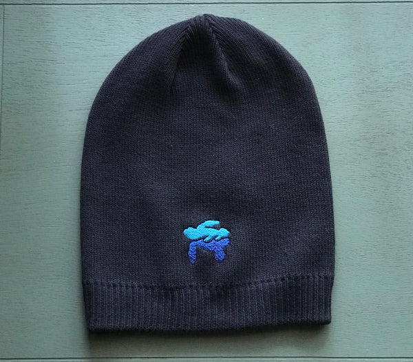 Sea Turtle Embroidered Beanie, 100% Organic Cotton