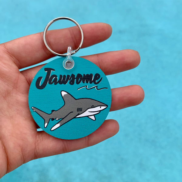 Jawsome • eco-friendly shark keychain