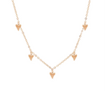 Shark tooth necklace • Rose Gold