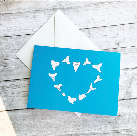 Shark Tooth Heart Greeting Card