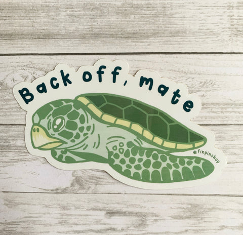Flatback sea turtle sticker • Donation InWater Research