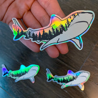 Holographic Sharks Older than Trees Sticker