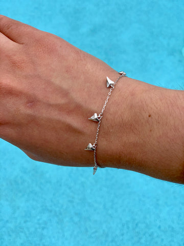 Shark tooth bracelet • 925 silver