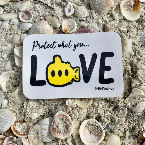Protect What You Love Yellow Submarine Sticker