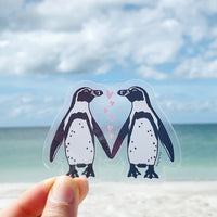 Humboldt Penguin Love sticker • donation item