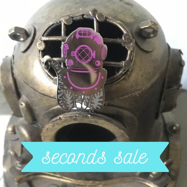 CHARITY SECONDS • AquaCats Olivia Cateau pin