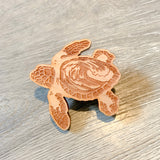 Sea Turtle Eco-friendly Wood Pin • Donation to Sea Turtle Inc TX
