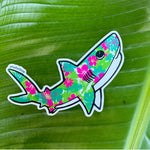 Hibiscus Shark Sticker