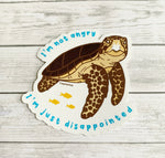 Loggerhead sea turtle sticker • Donation InWater Research