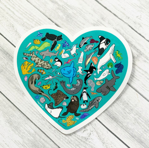 Ocean Love Sticker