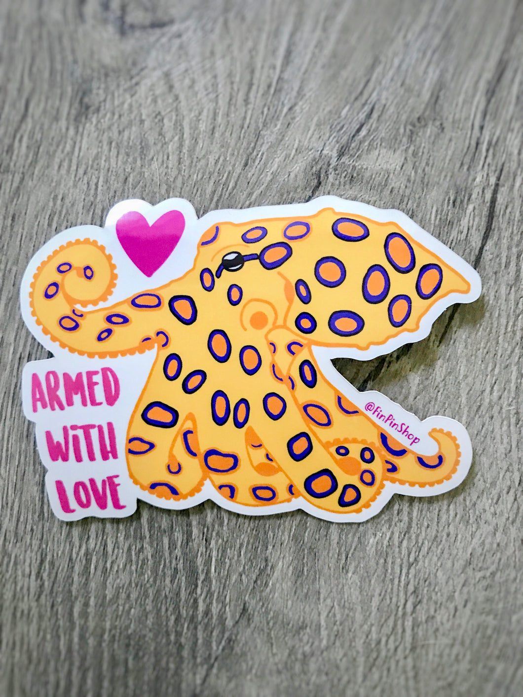 Blue-ringed Octopus Love Sticker