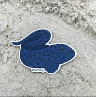 Wolf eel sticker