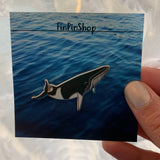 CHARITY SECONDS Minke Whale Cetacean Pin