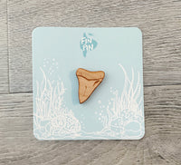 Shark Tooth Eco-friendly Wood Pin