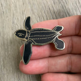 Leatherback sea turtle hatchling pin