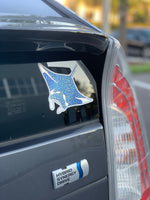 Manta ray satin mirror finish sticker