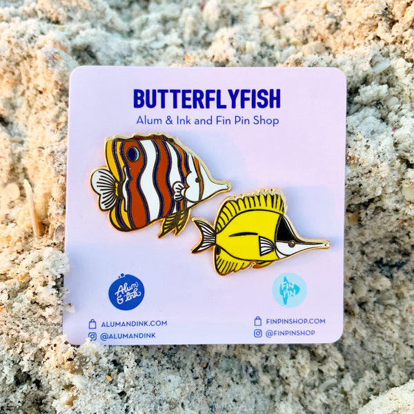 Butterflyfish pin set