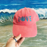 Coral LOVE Hat