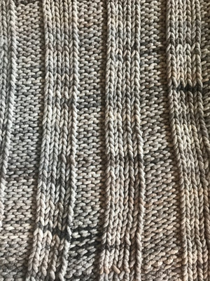 Blanket, Super Chunky Calico Marbled Knit